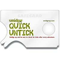 Smidge Unisex's Tick Removing Card, Green, one size