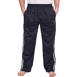 Best Deals direct hommes bas survêtement soyeux jogging gym Pantalon bas - Bleu marine, XXXXX-Large