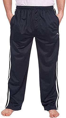 Hommes Bas Survêtement Silky Jogging Pantalons De Gymnastique - Bleu Marine, Bleu Marine, XXL, XX-Large