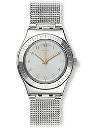 Swatch Damen Armbanduhr Digital Quarz Edelstahl YLS187M