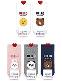 Calcetines Carini: oso, polluelo, conejo, panda
