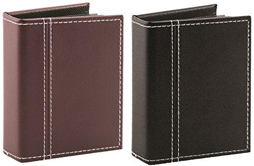 Pinnacle Frames and Accents 6,3x 8,9cm Verschiedene Mini Fotoalbum (Burgund/Schwarz)