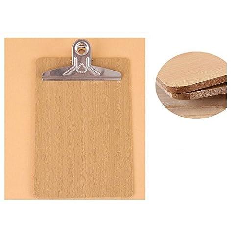 Ardisle 3x A4 Hardboard Zwischenablage Heavy Duty Metall Clip Holz