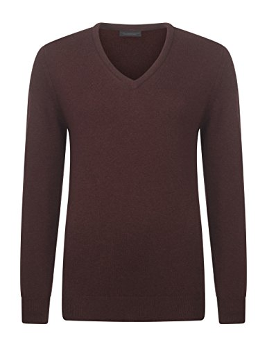 Great and British Knitwear Damen Pullover, Einfarbig-Bison-Medium (Reiner Medium Pullover Wolle)