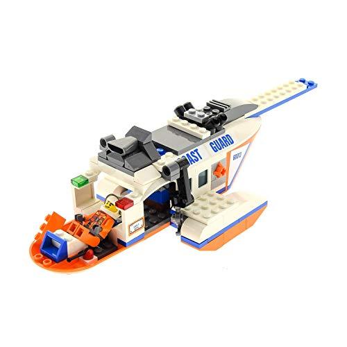 Bausteine gebraucht 1 x Lego System Set Modell für 60013 Coast Guard Helicopter Hubschrauber orange weiß Incomplete unvollständig
