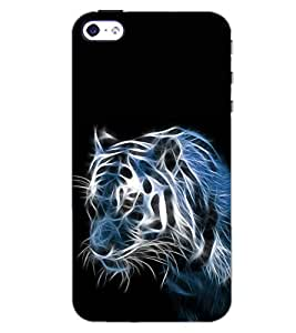 PrintDhaba TIGER SHADE D-6581 Back Case Cover for APPLE IPHONE 5 (Multi-Coloured)