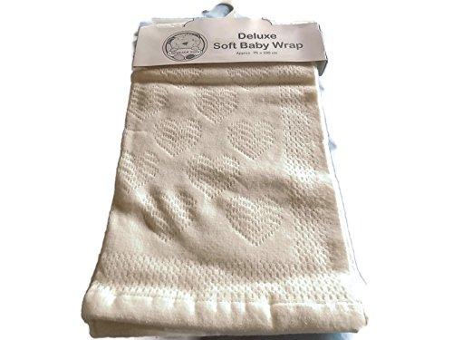 Bébé doux de luxe Wrap - Coeurs Couleur crème 895