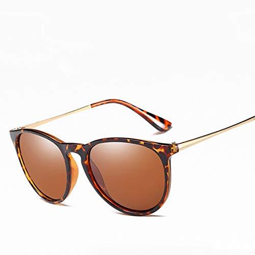 WDDYYBF Sonnenbrillen, Klassische Fgrayion Casual Comfort Katze Augen Sonnenbrillen Für Männer Frauen Sommer Style U 400 Leopard Korn Farbe Intage