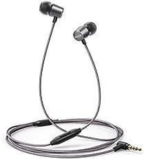 Kopfhörer Anker SoundBuds Verve in-Ear Kopfhörer Kabelgebunden mit Mic/stark Bass/physikalischer Geräuschreduzierung/3,5mm Klinkenbuchse für iPhone/iPad/Sumsung Smartphones, Tablets, PC und weitere(Grau)
