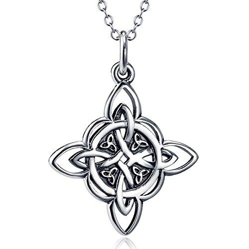 Celtics-halskette (AieniD Frauen Geschenk 925 Sterling Silber Halskette für Damen Celtic Triquetra Knoten)