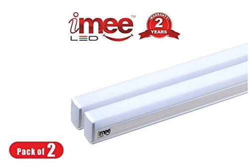 iMee 22 Watts Aluminium Base LED Tube Light (Cool Day Light, 6500K) - Set of 2