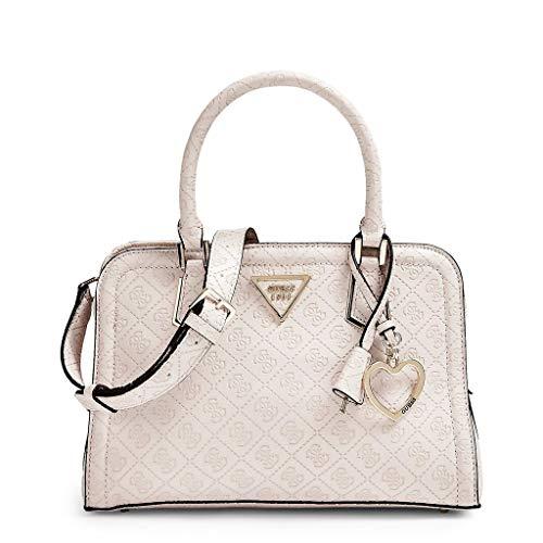 Guess LYRA SMALL GIRLFRIEND SATCHEL Handtaschen damen Beige Handtasche, Stone (Weiß), Einheitsgröße -