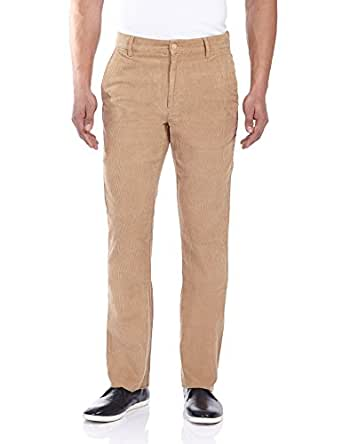 Ruggers Men's Casual Trousers (8903600967679_231015461_38W X 38L_Khaki)