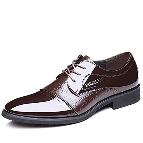 Leder-patent Leder Heels (Mode Schuhe, Freizeitschuhe Stilvolle patent oxford schuhe für männer mikrofaser leder business formelle kleidung hochzeitsbankett mode faulenzer rutschfeste low heel schnüren oxfords Persönlichkeit S)