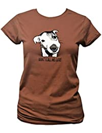 Red Dog Wear Womens 'Cute' Jack Russell Fitted T.Shirt