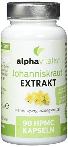 Johanniskraut Extrakt 4000 mit Hypericin - hochdosiert, vegan und ohne Magnesiumstearat - 90 Kapseln - St. John\'s Wort Extract aus Hypericum perforatum L.