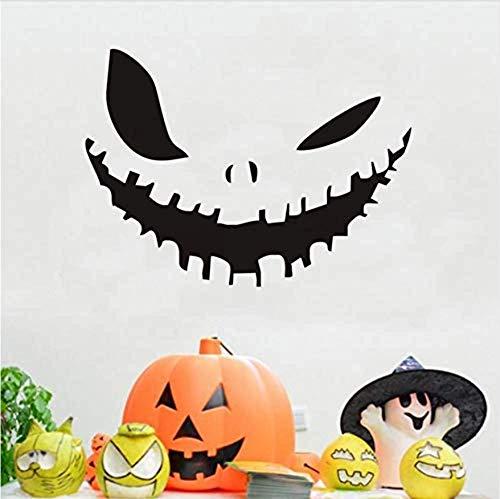 WENYAO Wohnzimmer Wandaufkleber decorPumpkin Gesicht Happy Halloween Party Applique Moderne Wandaufkleber Schlafzimmer Wohnzimmer Dekoration Wasserdicht Zubehör Tapete 44x32 cm