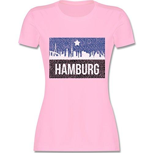 Fußball - Fußball Hamburg - XXL - Rosa - L191 - Damen T-Shirt Rundhals