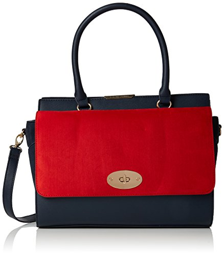 Dorothy-Perkins-Womens-Flap-Tote-Blue-Navy-Blue