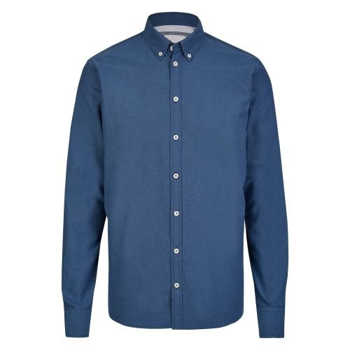 Minimum Hemd mit langen Ärmeln (Blau Gestreifte Button-down-shirt)