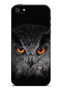 GeekCases orange eyes-Owl Back Case for Apple iPhone 5/5S