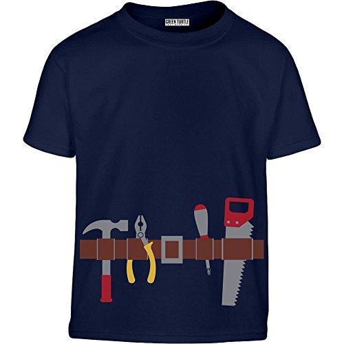 Kostüm Baumeister - Handwerker Gürtel Kostüm Geschenk Jungs Kleinkind Kinder T-Shirt - Gr. 96/104 (3-4J) Marineblau