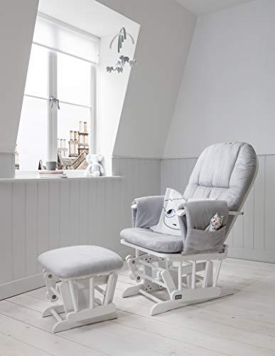 Tutti Bambini Deluxe - Silla de lactancia acolchada con 3 posiciones de reclinación, marco de madera...