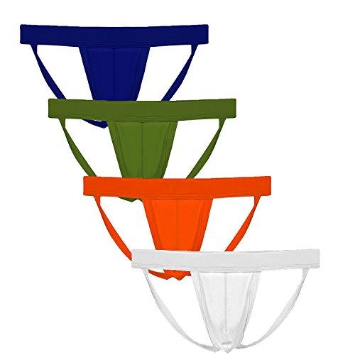 Summer Code Herren Sexy Strings mit Ausbuchtung Bikini Jockstrap Elastisches Thong