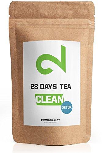28 Tage DUAL Detox Tee zur Gewichtsreduktion | Grüner Tee | enthalten | Für: Gewichtsreduktion, Schlankheitskur, Entgiftung und Diät | Entschlackungstee | Reinigungstee | Loser Blatt-Tee