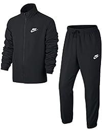Nike M NSW TRK Suit WVN Basic Chándal, Hombre, Negro (Black/White), 3XL