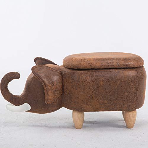 XFF Elefante Creativo Taburete Asiento de Madera Pedal de Asiento pequeño Taburete Lindo de Dibujos Animados de Intercambio de Animales casa Taburete de Almacenamiento,A,Cm