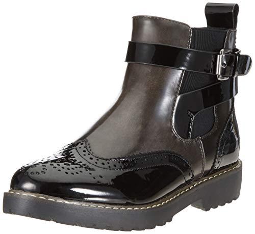 Rieker Damen 98081 Chelsea Boots, Schwarz (Schwarz/Asphalt 00), 40 EU