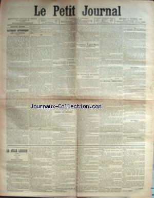 PETIT JOURNAL (LE) [No 13494] du 06/12/1899 - INSTRUMENTS ASTRONOMIQUES DE L'AVENIR - MESSAGE DU PRESIDENT DES U.S.A. - LA CANDIDATURE DU GENERAL MERCIER DANS LA LOIRE-INFERIEURE - LA FRANCE AU LOIN - QUANG-TCHEOU-WAN - ARMEE ET MARINE - ECOLE DE SAINT-MAIXENT - LA GUERRE AU TRANSVAAL - LES NOUVEAUX TIMBRES POSTES - M. MOUGEOT.