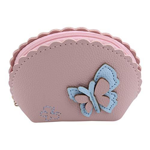 LIGHTBLUE Hohle Blume Münze Geldbeutel Schmetterling Handtasche Mit Schlüsselanhänger Kette Tragbarer Reißverschluss Mini Kopfhörer Tasche, Schmetterling (pink) - Pink-münzen-geldbeutel-schlüsselanhänger