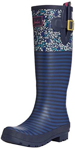 Joules Wellyprint, Bottes Femme Bleu (blditsy)