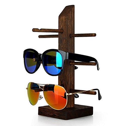General Holz Wenge Sonnenbrille Große Halterung Glas Display Ständer Glas Display Styling 3-Layer