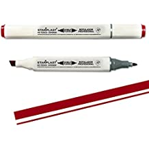 150343 - Rotulador permanente doble punta profesional, color (Granate)