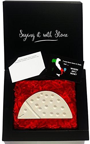 Marienkäfer aus Stein - Symbol der Positivität - Handgemacht in Italien - Geschenk Geschenkidee Geburtstag Jahrestag Hochzeitstag Hochzeit Männer Frauen Mädchen Mama Papa