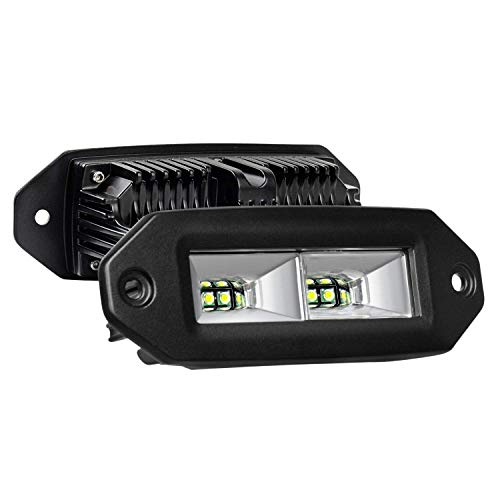 Moligh doll Barra Luminosa Un LED, Baccelli Un LED da Incasso Un Filo 40W, 2 Pezzi Fuoristrada Luci di Guida di Sicurezza Fendinebbia per Paraurti ATV Utilv SUV Camion B