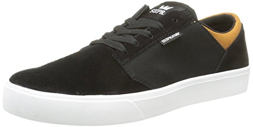 Supra Yorek Low Trace, Baskets Basses Mixte Adulte Noir (Black/Cathay Spice/White)