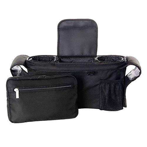KOKOUK Baby Stroller Organizer with Cup Holders Secured Fit, Extra Storage, Easy Installation - Universal Stroller Organizer for Smart Moms