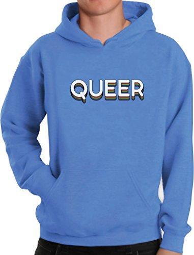 Green Turtle T-Shirts Queer Statement im Disco Design Geschenk Kapuzenpullover Hoodie Large California blau -