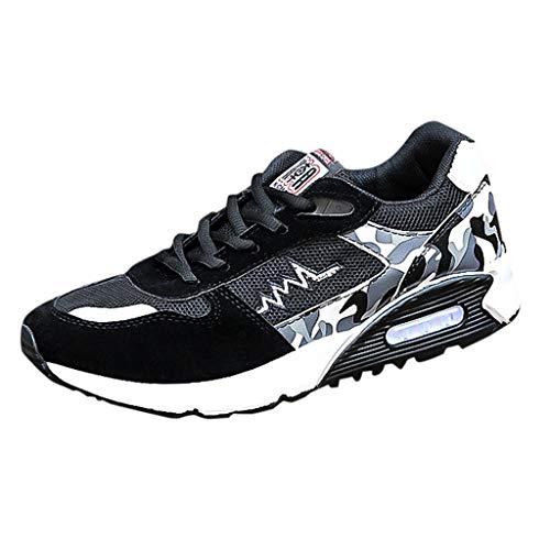 Luckycat Herren Laufschuhe Atmungsaktiv Turnschuhe Schnürer Sportschuhe Sneaker Herren Damen Sportschuhe Laufschuhe mit Luftpolster Turnschuhe Profilsohle Sneakers Leichte Schuhe