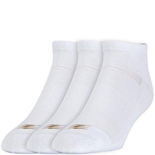 PowerSox Herren 3er-Pack Cushion Low Cut Socken mit Coolmax, Herren, weiß, 2 PK (6 Pairs) Large (9-12.5 Shoe Size) - Low Cut-2 Pack-socken