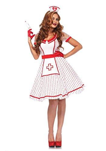 Leg Avenue Damen Kostüm Krankenschwester Nikki M/L weiß rot