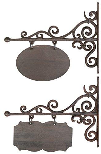 Esschert Design Namenschild rechteckig-oval, klein, Wanddekoration, Wandschild,