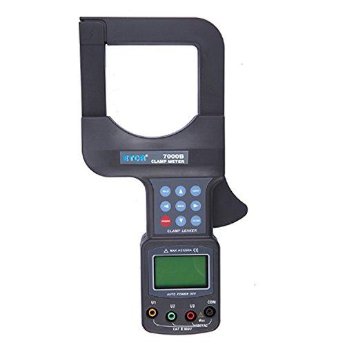 Multímetro Amperimetrica Digital, 0-2500A gran alcance amperímetro digital de corriente alterna con 0-600V voltímetro trifásico pinza de corriente CA ETCR7000B Clamp Meter