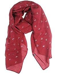 Glamexx24 Écharpe foulard foulard paillettes tube métallique écharpe motif  fleurs hertz étole ... fa229a2ffd7
