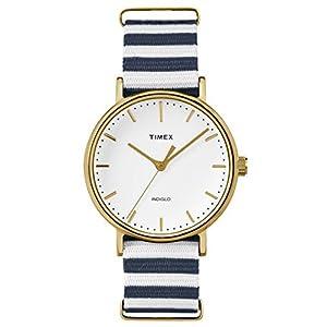 Timex Reloj Analogico para Mujer de Cuarzo con Correa en Tela TW2P91900