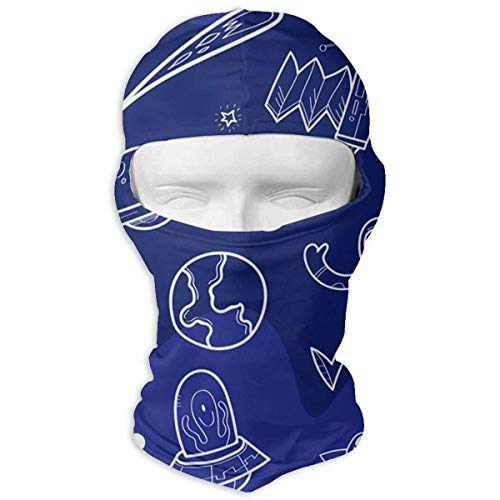 Nifdhkw Space Pic Ski Masks for Cycling Outdoor Sports Full Face Mask Balaclava Windproof Breathable